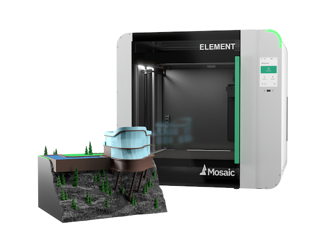 Mosaic Element Fully Enclosed Multi Material 3D Printer