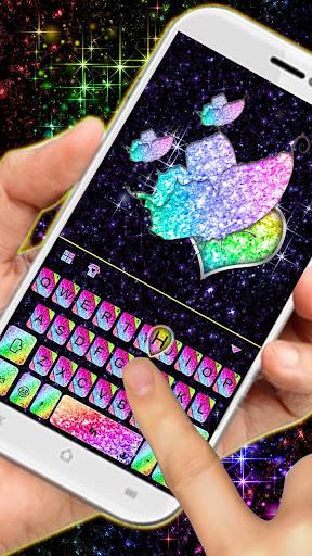 Sparkle Rainbow Keyboard Theme ss2