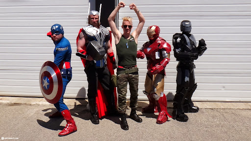 captain GUILE with the AVENGERS at Anime North 2013 in Toronto, Ontario, Canada