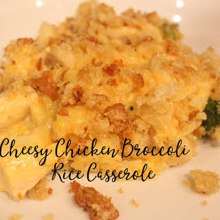 Cheesy Chicken, Broccoli, & Rice Casserole.