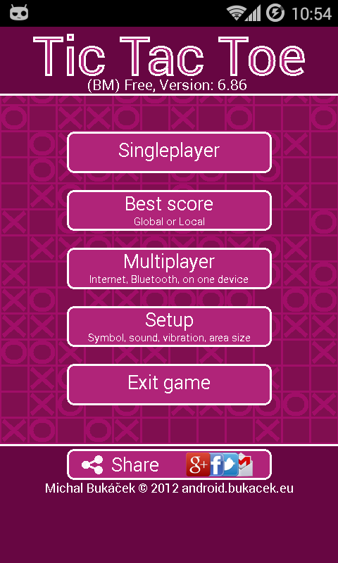 TicTacToe - screenshot
