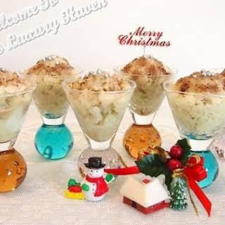 Christmas Matcha Granita With NuStevia Chocolate Toppings.