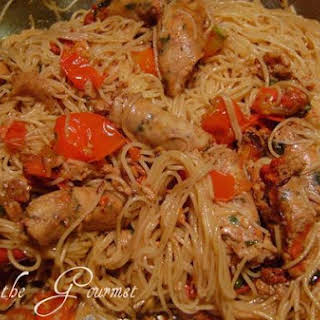 Spaghetti With Honey and Balsamic Vinegar.