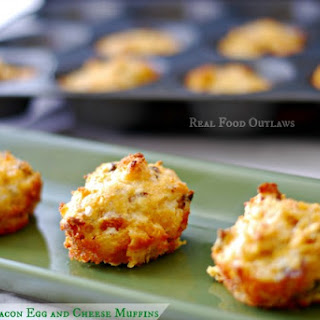 Grain-Free Bacon Egg and Cheese Breakfast Muffins.
