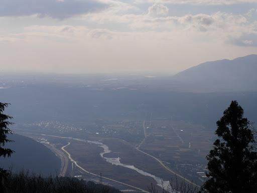 揖斐川(奥に長良川と木曽川)