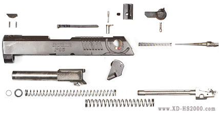 Photo: Here is the Ruger P95 completely disassembled in a schematic view.
