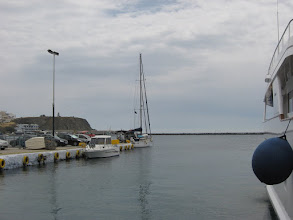 Photo: Tinos harbour before the wind