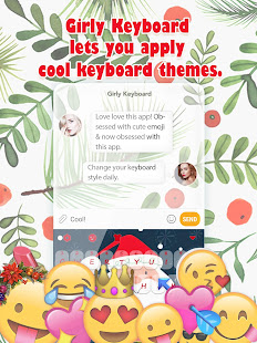 Christmas Snow Keyboard Theme for Girls for PC-Windows 7,8,10 and Mac apk screenshot 2