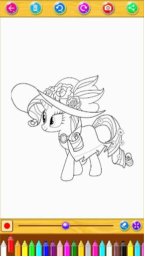 Coloring Book Little Pony screenshot 6