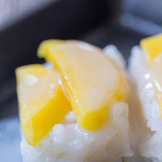 Sweet Thai Coconut Mango Sticky Rice Bites