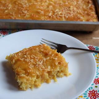 Pineapple Coconut Sheet Cake.