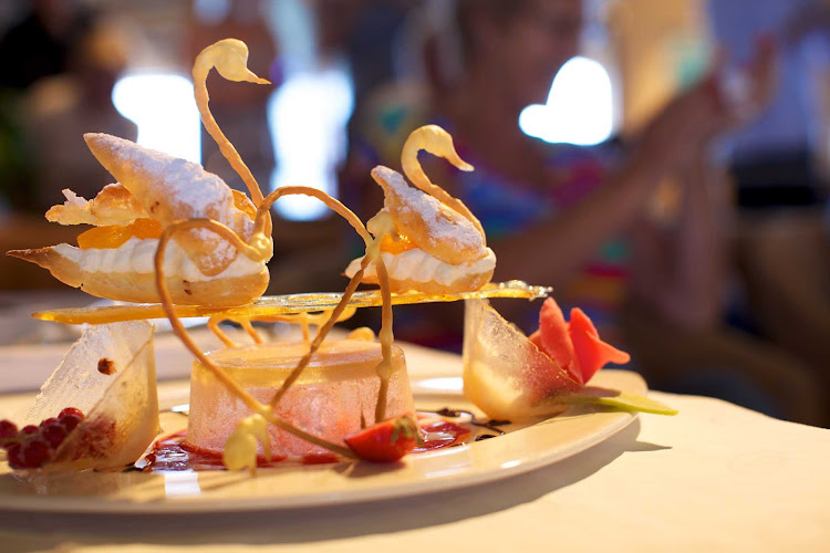 Ethereal desserts on SeaDream I.