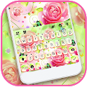Pink Soft Roses Keyboard Theme icon