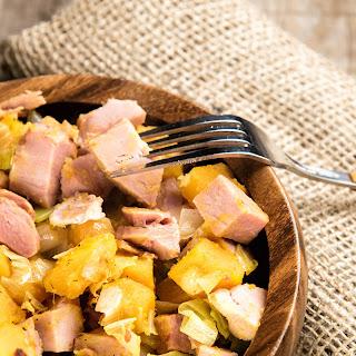 Ham And Butternut Squash Hash.