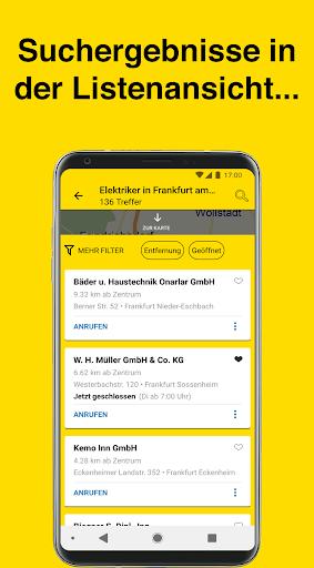Gelbe Seiten - Auskunft und mobiles Branchenbuch 6.16-0381813b0 screenshots 2