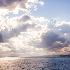 Gordon's Bay Clouds by Malan Lombard - Landscapes Waterscapes ( water, sunset, sea, cloudy, ocean, clous )