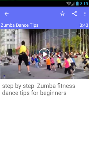 android Zumba Dance Tips Screenshot 0