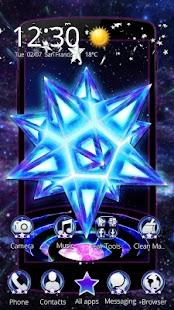 3D Neon Star Galaxy Theme - náhled