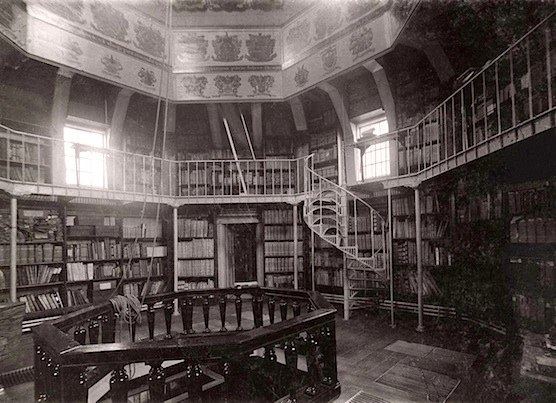 A photo inside the upper tower, taken in 1911.