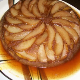 Cardamom Pear Upside-Down Cake