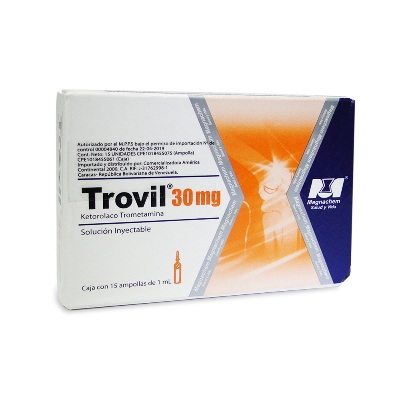 Ketorolaco Trometamina Trovil Solucion Inyectable 30mg