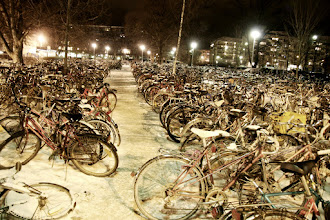 Photo: parking lot next to the train station