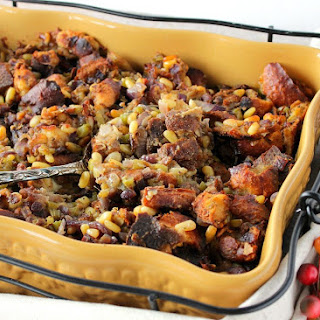 Incredibly Delicious Pretzel Roll Stuffing with Pine Nuts