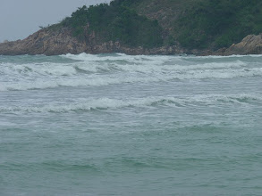 Photo: Ko Phangan - windy weather with waves and really high sea/tide at Haad Khom