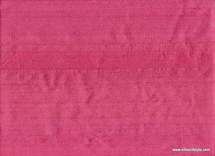 Photo: 100% Handloom Dupioni Silk - H/L Cerise