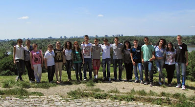 """Photo: Ученици СШ """"17.септембар"""" Лајковац на Калемегдану."""