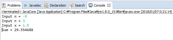 Java - S(n) = x + x^3 +...+ x^(2n+1)