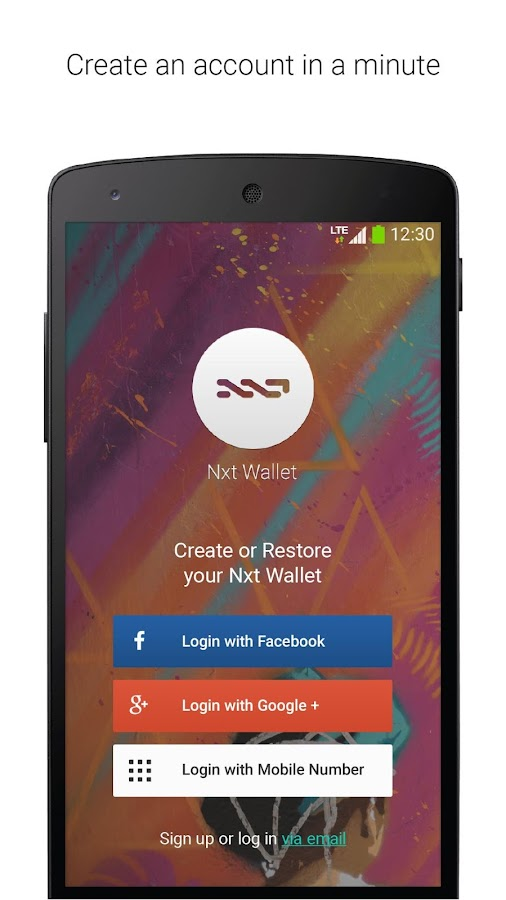 Nxt Wallet- screenshot
