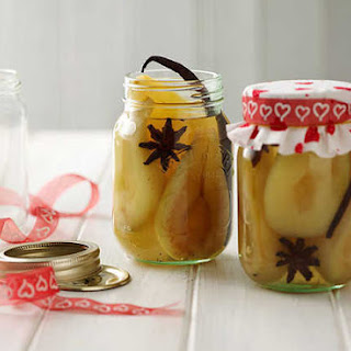 Poached Bottled Pears.