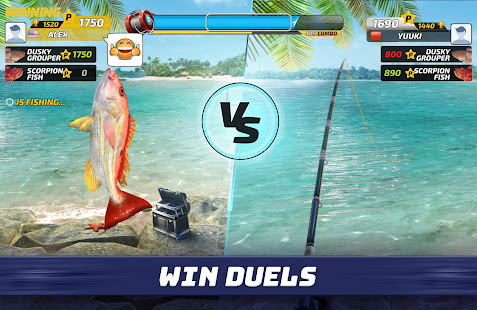 compete with friends in fishing clash