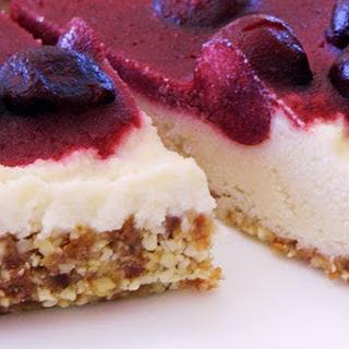 Raw Lemon Cherry Cheesecake [Vegan]
