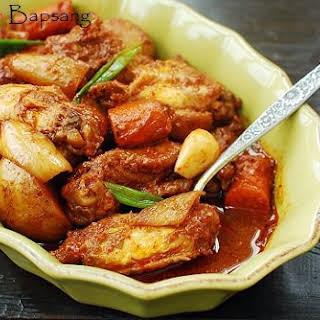 Dakdoritang (Korean spicy chicken stew).