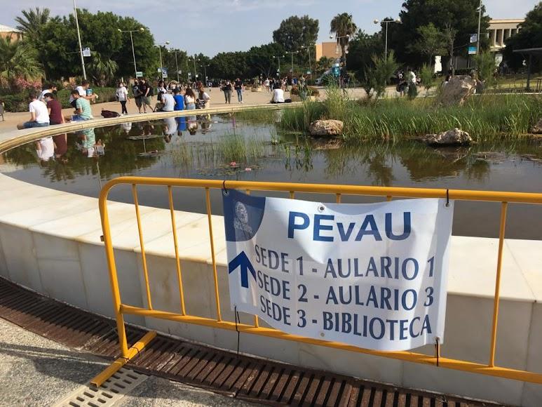 La UAL acoge las pruebas PEvAU, antigua Selectividad.