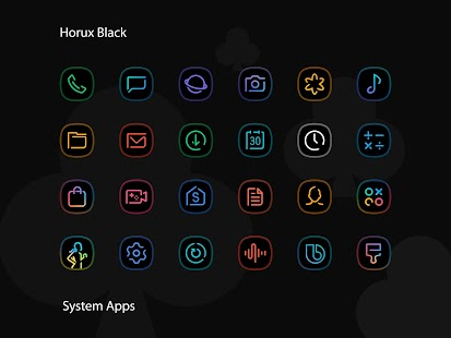 Horux Black - S9 Icon Pack Screenshot