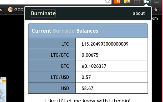 Burninate for Burnside's Litecoin Mining Pool