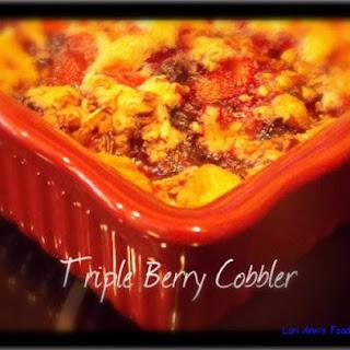 Buttery Triple Berry Cobbler