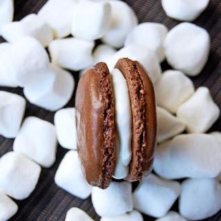 Hot Chocolate And Marshmallow Macarons.