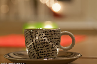Photo: Maybe my most beautiful espresso cup/saucer. Brand: Porsgrund, Norway.