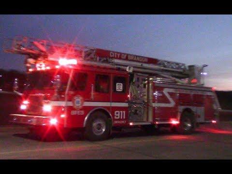 4 Fire Trucks Responding for Fire Alarms - YouTube