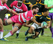 Embrose Papier of Junior Springboks during the Exhibition Match between Varsity Cup Dream Team and Junior Springboks at Danie Craven Stadium on April 25, 2017 in Stellenbosch.