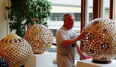 Photo: Plywood polyhedra by Roland Gagneux.