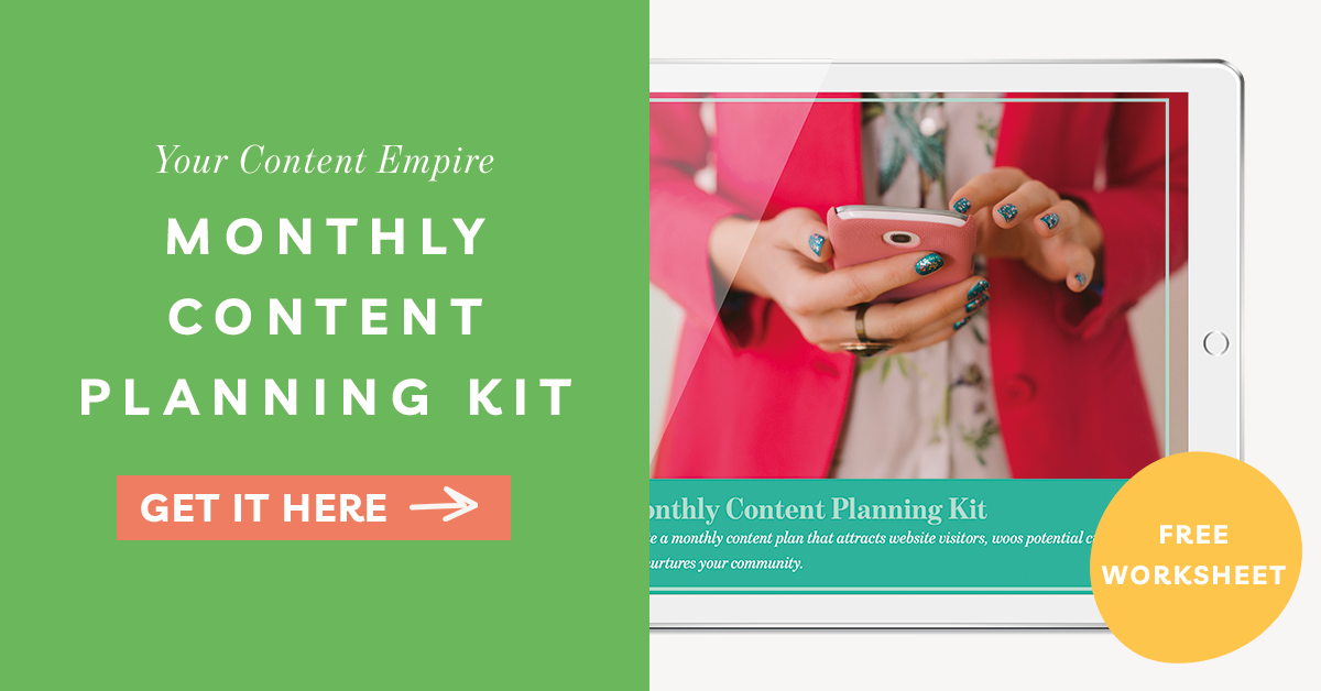Freebie | Monthly Content Planning Kit