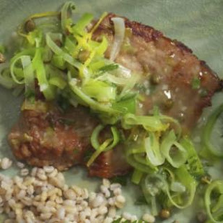 Veal Scaloppine with Lemon, Capers & Leeks