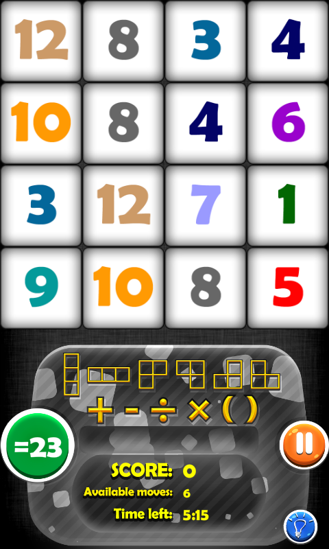 Arithmetics Puzzle- screenshot