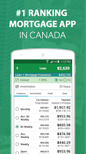 Canadian Mortgage Calculator- screenshot thumbnail