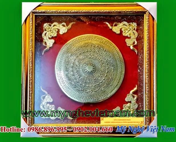 tranh trống đồng quà tặng gò đồng tinh xảo